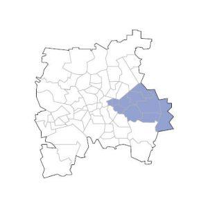 Stadtkarte Leipzig Ost