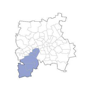 Stadtkarte Leipzig Süd-West
